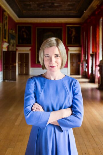 Lucy Worsley IMAGE credit Historic Royal Palaces Bloomsbury Ben Turner 1