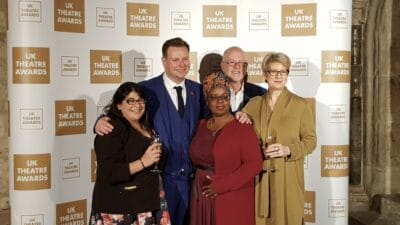 UK Theatre Awards Dilek Latif Ryan McBryde Deborah Sawyerr Steve Mannix and Tracey Childs
