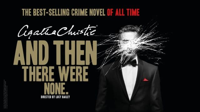 And Then There Were None - Title text and black and white photo of a man with his face scribbled out